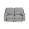 Louis Two Seater with Manual Recliner - Grey