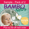 Baby Clothes Bambo Nature Disposable Nappies - Sample Pack of 2 Nappies
