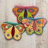 Baby Toys Butterfly Shaped Patchwork Purse