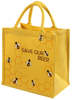 General Household Reusable Jute Shopping Bag - Save Our Bees