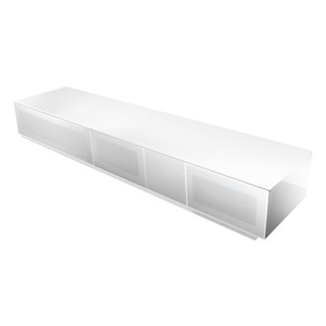 Television Accessories  - Alphason EMTMOD2100WH Element High Gloss TV Cabinet 2100mm Wide in Whi