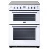 Stoves SFG60DOP WH 60cm Gas Cooker in White Double Oven Lid