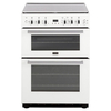 Stoves SFG60DOPLPGW 60cm LPG Gas Cooker in White Double Oven Lid