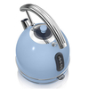 Electric Kettles Swan SK34021BLN 1 7 Litre Retro Dome Kettle in Blue 3 0 kW Rapid Boil