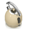 Electric Kettles Swan SK34021CN 1 7 Litre Retro Dome Kettle in Cream 3 0 kW Rapid Boil