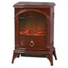 Warmlite WL46012R 1800W Log Effect Stove Fire in Burgandy Red