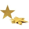 Gold Glitter Foam Stars 6 Pack