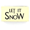 Arts & Crafts Hobbycraft Let It Snow Wooden Stamp Natural