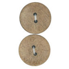 Vogue Star 30mm Two Hole Nut Button In Beige