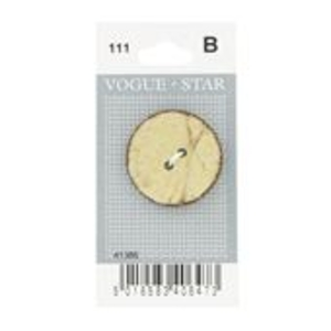 Vogue Star 30mm Two Hole Nut Button In Cream