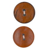 Vogue Star 30mm Two Hole Nut Button In Orange