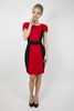 Women's Clothing Contrast Panel Tailored Dress
