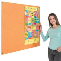 Office Supplies  - Eco-Colour Frameless Resist-a-Flame notice board - 1200 x 2400mm
