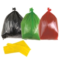 Office Supplies  - Red Medium Duty Bin Bags 90L - Box of 200 Bags