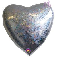 Decorations  - Holographic Pattern Heart Foil Balloon
