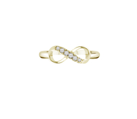 - Infinity Ring 14K Gold Plated (Large), Made with Swarovski Elements