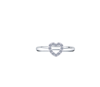 - Pavé Heart Ring (Small), Made with Swarovski Elements