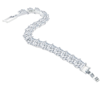 - Princess Tennis Bracelet, Made with Swarovski Elements