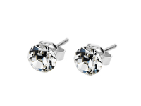 - Solo Stud Earrings, White Gold Plated and Made with Swarovski Elements