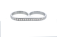 - Two Finger Ring (Medium), Made with Swarovski Elements