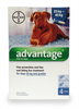 Advantage Flea Prevention and Treatment Solution for Dogs of 25kg And Greater - 4 x 4.0ml.