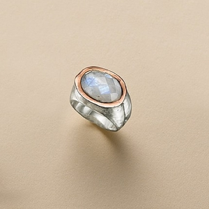 - Faceted Moonstone Ring