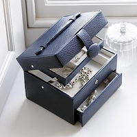 - Navy Jewellery Box