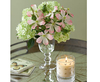 Artificial Guelder and Dog Roses Arrangement, Pink