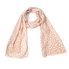Heart Print Rose Scarf