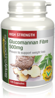 Vitamins & Supplements  - Glucomannan Capsules 500mg
