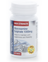 Vitamins & Supplements  - Glucosamine Sulphate 1000mg - Small