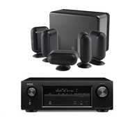 Audio Systems  - Denon AVRX3100W 7.2CH Network Receiver With Bluetooth Airplay Spotify And 4K In Black with Q Acoustics QA7863 7000i 5.1 Speaker Package in Black