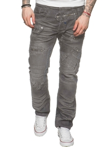 ETO Mens Designer Funky Grey Denim Jeans