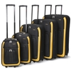 Cities 625 5-piece Travel Luggage Suitcase Set,  18-32&8243; (Black)
