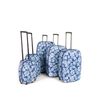 FRENZY 282 Blue Travel Luggage Suitcase Sets,  Includes Cabin Trolley Bags for Ryanair and Easyjet 5-Pcs (18-32&8243;)