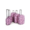 FRENZY 282 PINK Travel Luggage Suitcase Sets,  Includes Cabin Trolley Bags for Ryanair and Easyjet 5-Pcs (18-32&8243;)