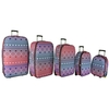 Frenzy Travel Luggage Suitcase Sets,  Includes Cabin Trolley Bags for Ryanair and Easyjet 5-Pcs 292 Multi (18-32&8243;)