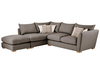 Sofas Zest High Back Corner Combi Sofa Right Hand in Crystal Charcoal