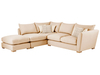 Sofas Zest High Back Corner Combi Sofa Right Hand in Crystal Cream