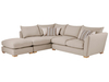 Sofas Zest High Back Corner Combi Sofa Right Hand in Graceland Silver