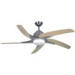 "General Household  - Fantasia Elite Viper Plus 54"" Ceiling Fan with Maple Blade & Light - Stainless Steel"
