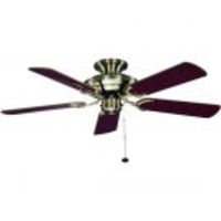 "General Household  - Fantasia Mayfair 42"" Ceiling Fan with Gloss Mahogany/ Gloss Oak and Cane Blade - Antique Brass"