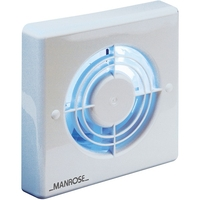 "General Household  - Manrose 120mm (5"") Axial Extractor Fan with Humidity Control & Pullcord"
