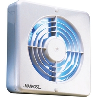 "General Household  - Manrose 150mm (6"") Axial Extractor Fan with Humidity Control"