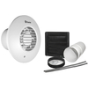 Xpelair DX100HPTR Humidistat Pull Cord Timer Round Extractor Fan with Wall Kit (93009AW)
