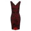 Women's Dresses & Skirts Napoli Lace Dress Red with Black (6)