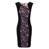 Women's Dresses & Skirts Sorbet Contrast Panel Lace Dress Baby Pink with Navy (14)