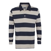 Ramble Striped Long Sleeve Rugby Top Black Iris