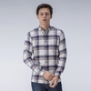 Men's Clothing Beige Checked Shirt