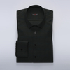 Black business shirt in stretchy twill